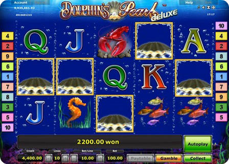 dolphins pearl deluxe slot