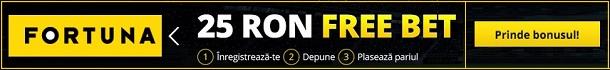 Fortuna Pariuri Sportive Bonus 25 RON