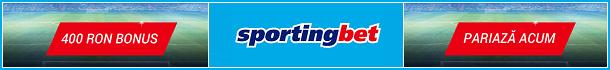 Sportingbet Pariuri Sportive Bonus 400 RON