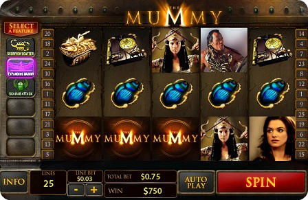 the mummy slot
