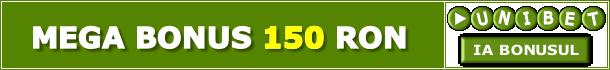Unibet Pariuri Sportive Bonus 150 RON