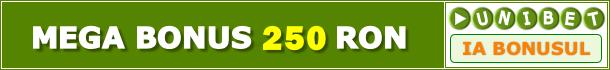 Unibet Bonus 250 RON